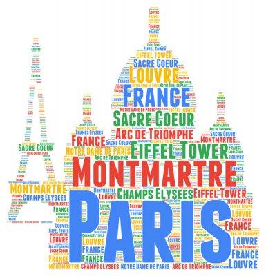 Sticker Paris Wort Wolke