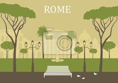 Parken Sie in Rom. Vektor
