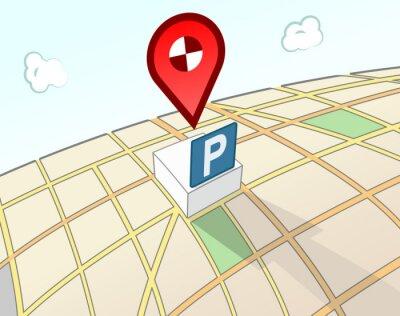 Parkplatz 3D-Lageschild