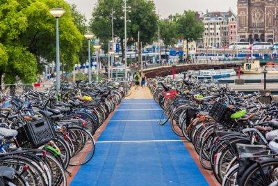 Sticker Parkplatz für Fahrräder in Amsterdam