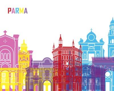 Sticker Parma-Skyline-Pop