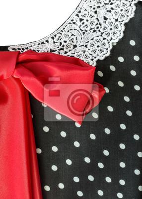Part Retro-Kleid mit einer roten Schleife