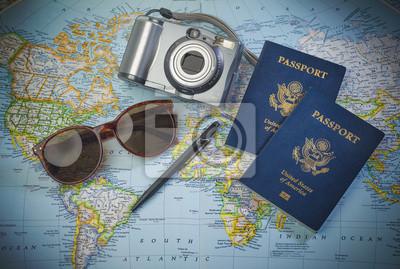 Sticker Pässe auf Weltreisen