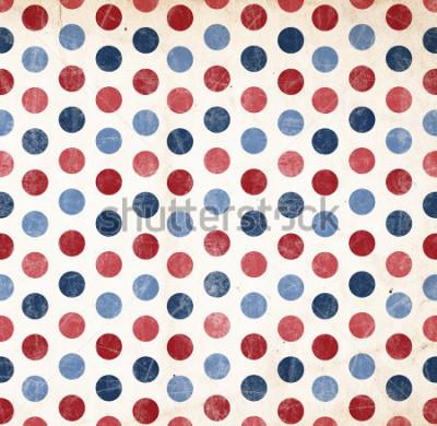 Sticker Patriotischer Hintergrund - rote und blaue Punkte