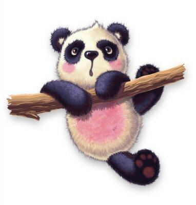 Sticker pelzigen panda