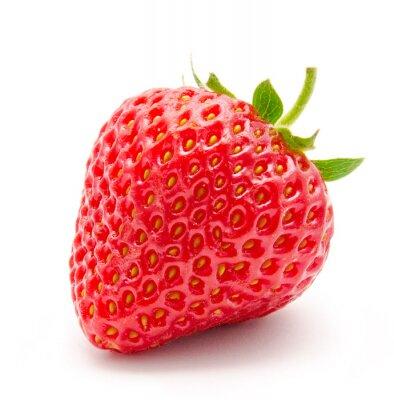 Sticker Perfekte rote reife Erdbeeren isoliert