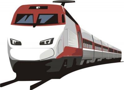 Sticker Personenzug