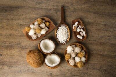 Sticker Peruanische Kokaden, eine traditionelle Kokosnuss-Dessert verkauft in der Regel auf
