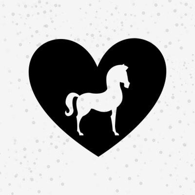 Sticker Pferd Silhouette Design