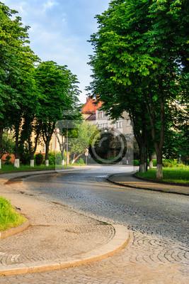 Pflaster Winde durch die Altstadt