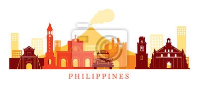 Philippinen Architektur Wahrzeichen Skyline, Form
