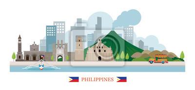 Philippinen Wahrzeichen Skyline