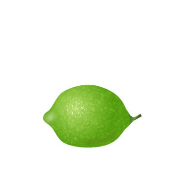 Sticker  Photo Realistic Lime Isolated