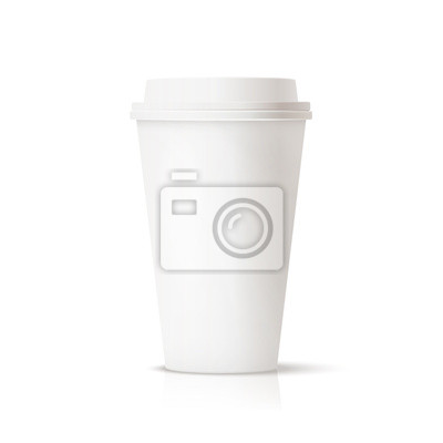 photo realistic white travel mug