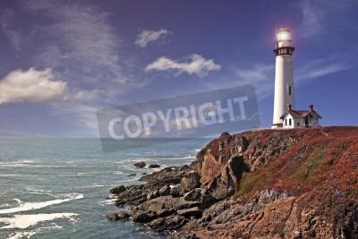 Sticker Pigeon Point Lighthouse - Pazifikküste / Kalifornien
