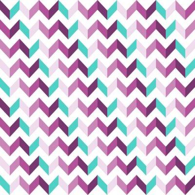Sticker Pink Chevron Nahtlose Muster