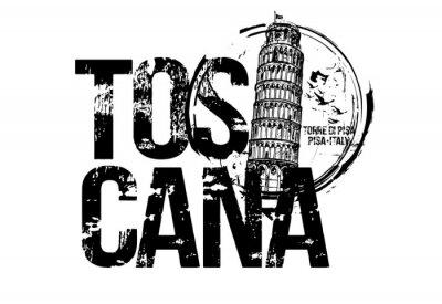 Pisa Tower. Toscana, Italy city design. Hand drawn illustration.