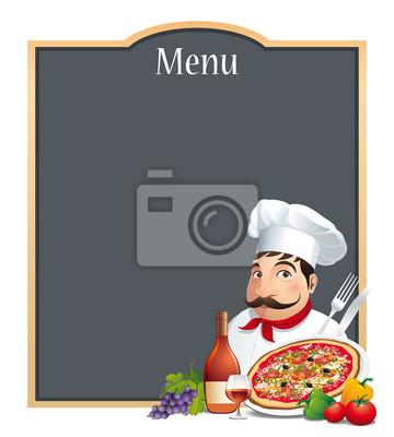 Pizzeria-Restaurant-Menü Carte - Vecteur CMJN