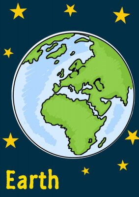 Sticker Planet Earth
