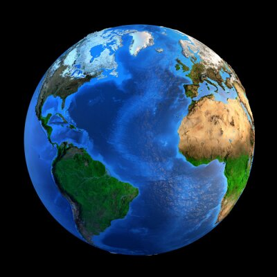 Sticker Planet Earth landforms