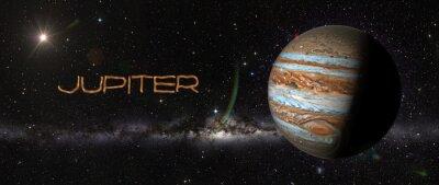 Sticker Planet Jupiter im Weltraum.
