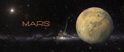Sticker Planet Mars im Weltraum.