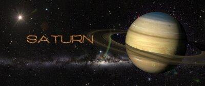 Sticker Planet Saturn im Weltraum.