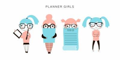 planner girls cartoon