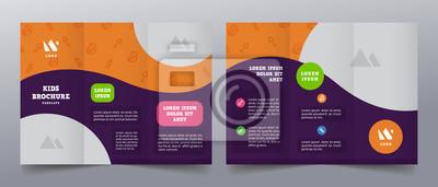 Sticker playful trifold brochure templates