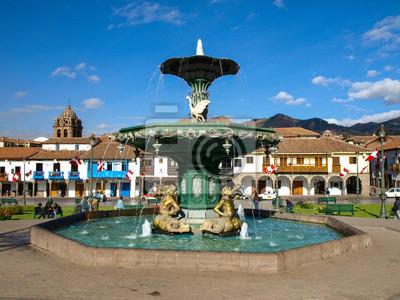 Sticker Plaza de Armas in Cusco