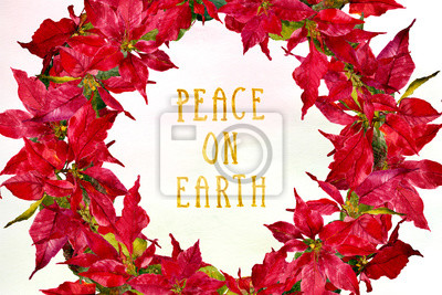 poinsettia watercolor background holiday image