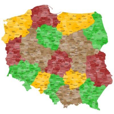 Sticker Polen Landkarte im Detail
