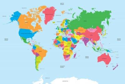 Sticker Politische Karte der Welt Vektor