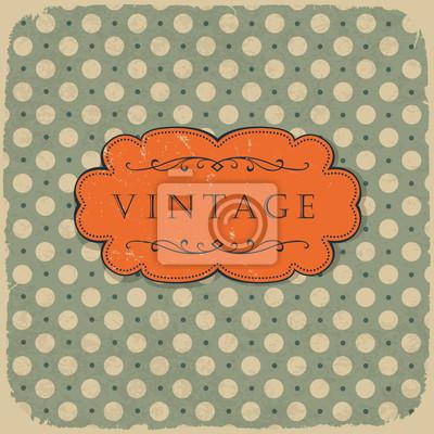 Polka dot design, vintage styled Hintergrund.