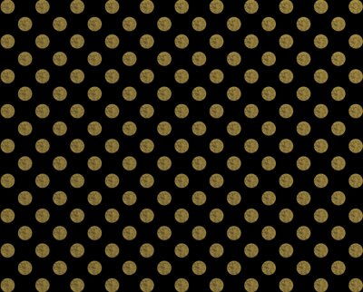 Sticker Polka Muster goldenen Punkt