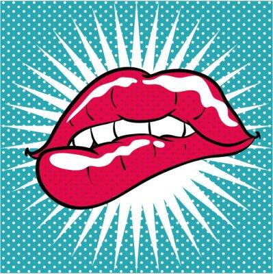 Sticker Pop-Art-Hintergrund