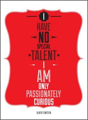 Poster. Ich habe keine besondere Begabung sondern bin nur leidenschaftlich neugierig.
