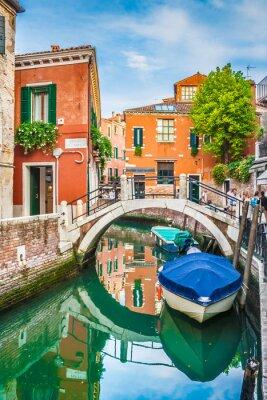 Sticker Postkarte Ansicht von Venedig, Italien