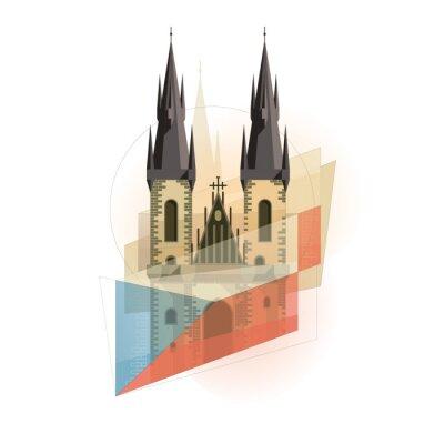 Prag Symbol Abbildung.