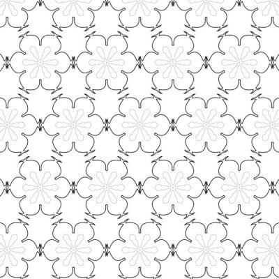 Sticker Primitive einfache graue Retro nahtlose Muster