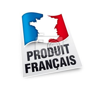 Produit français. Vecteur cmjn