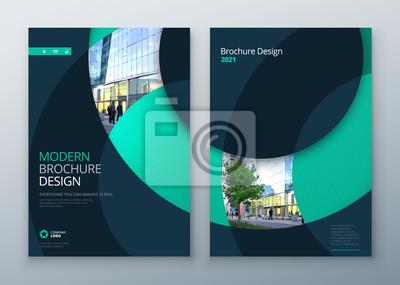 Sticker Prospektvorlage. Corporate Business Geschäftsbericht, Katalog, Magazin, Flyer Mockup. Kreatives, modernes, helles Konzept Kreis Runde Form