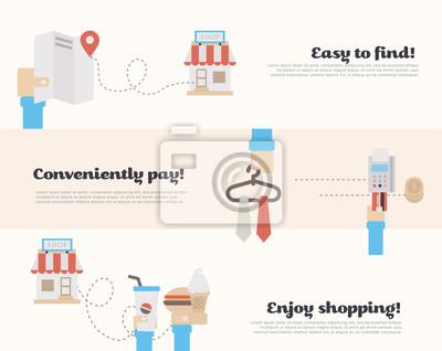 Prozess der Kauf im Supermarkt.