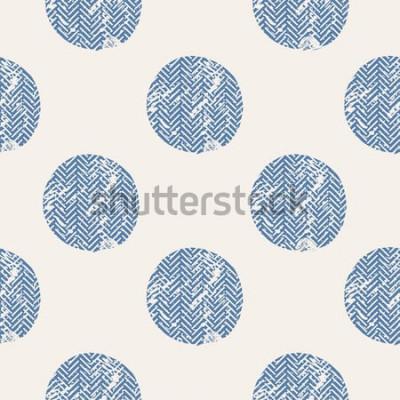 Sticker Punkte / Hand gezeichnetes nahtloses Muster des Vektors / Mode / Vögel / können für Hemddesign des Kindes oder des Babys / Modedruckdesign / Modegraphik / T-Shirt / Kinderabnutzung / T-Stück benutzt w