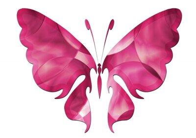 Sticker Purple Butterfly / Schöner Schmetterling