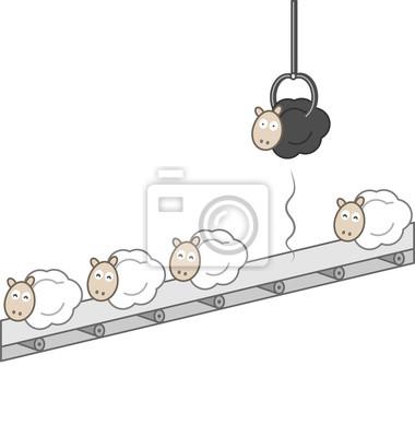 Qualitätskontrolle - Schwarzes Schaf Entfernt