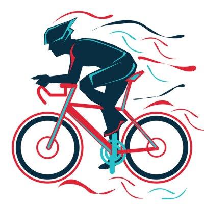 Sticker Radfahren, Fahrrad, Sport