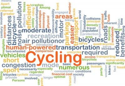 Sticker Radfahren Hintergrundkonzept