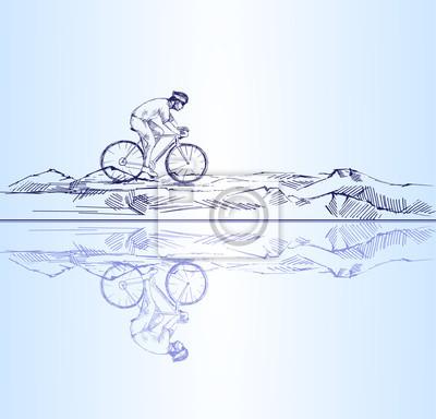 Radfahrer Reiten Berge