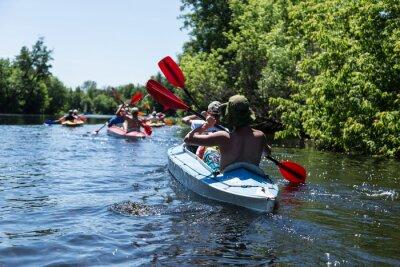 Sticker Rafting on the Vorskla River.